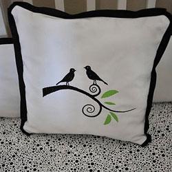 Singing Birds Decorative Pillow