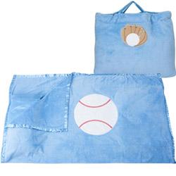 Sports Balls Blue Nap Bag