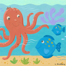 Octopus and Fish Artwork