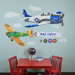 Oopsy Daisy/No Boundaries Airplanes Peel and Place Wall Decal