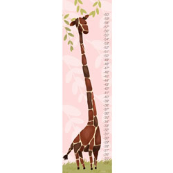 Oopsy Daisy/No Boundaries Gillespie the Giraffe Growth Chart-Pink