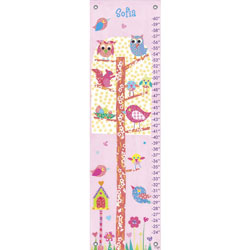 Oopsy Daisy/No Boundaries Little Owls Growth Chart