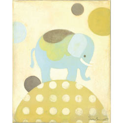 Blue Ella Elephant Artwork