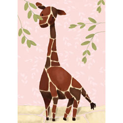 Oopsy Daisy/No Boundaries Gillespie the Giraffe Stretched Art- Pink
