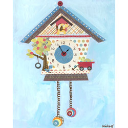 Oopsy Daisy/No Boundaries Koo Koo Puppy Canvas Clock