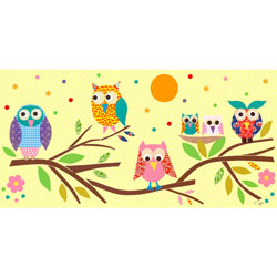 Oopsy Daisy/No Boundaries Owls on Branch Canvas Art