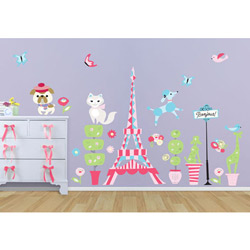 Oopsy Daisy/No Boundaries It's a Small World - Parisian Scene Decal