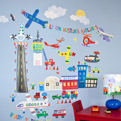 Airport Peel and Place Wall Decals