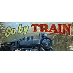 Oopsy Daisy/No Boundaries Go By Train Canvas Art