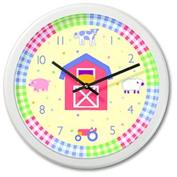 Olive Kids Country Baby Wall Clock