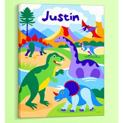 Dinosaurland Personalized Canvas Art
