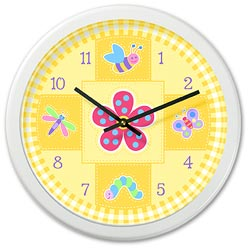 Olive Kids Flowerland Wall Clock