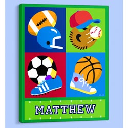Olive Kids Game On Personalized Canvas Art