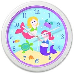 Olive Kids Mermaids Wall Clock