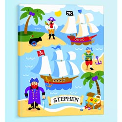 Olive Kids Pirates Personalized Canvas Art