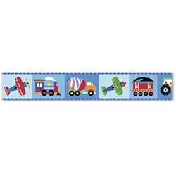 Olive Kids Trains, Planes and Trucks Wall Border