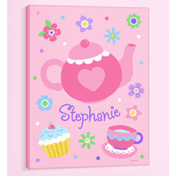 Olive Kids Tea Party Personalized Canvas Art