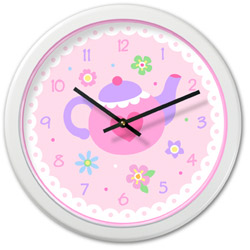 Olive Kids Tea Party Wall Clock