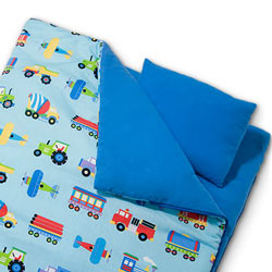 Olive Kids Trains Planes and Trucks Sleeping Bag