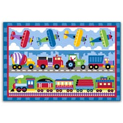 Olive Kids Trains, Planes and Trucks Rug