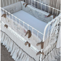 French Farmhouse Crib Bedding Set