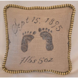 French Farmhouse Footprint Pillow