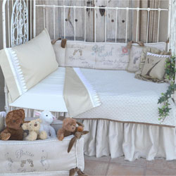 French Farmhouse Melle Toddler Bedding Conversion