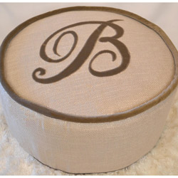 French Farmhouse Oliver Pouf