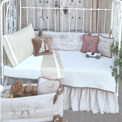 French Farmhouse Oliver Toddler Bedding Conversion