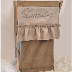 French Farmhouse Melle Laundry Hamper