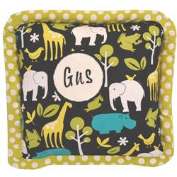 Gus Personalized Zoo Pillow