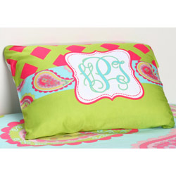 Aqua Paisley Personalized Pillowcase