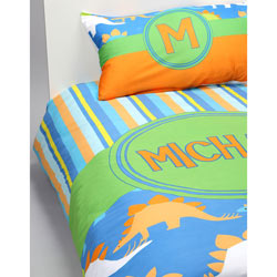 Personalized Dino Toddler Bedding Set