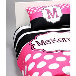 Hot Pink 'n Zebra Personalized Toddler Bedding Set