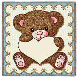 My Little Teddy Bear Blanket