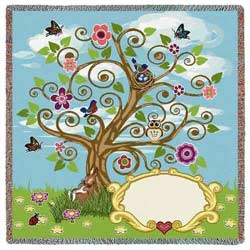 Personalized Tree of Life Blanket
