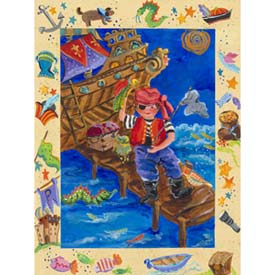 Oopsy Daisy/No Boundaries Pirate Adventure Stretched Art