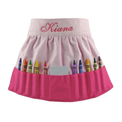 Color with Me Crayon Apron