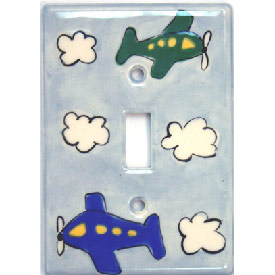 Plane Silly Switch Plate
