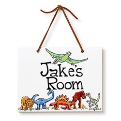 Dinosaurs Name Plaque