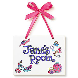 Jamies Painting and Design Dress Up Name Plaque