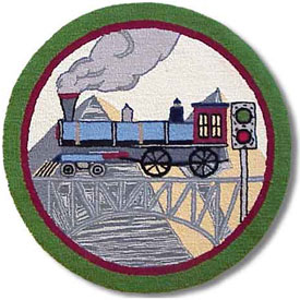 Patch Magic Group Round Train Rug