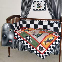 Patch Magic Group Race Car Crib Bedding