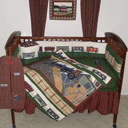 Patch Magic Group Train Crib Bedding