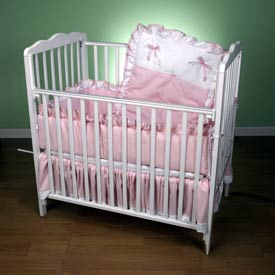 Baby Doll Pretty Pique Porta Crib Set