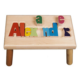 Personalized Puzzle Stool- 9-12 letters