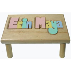 Personalized Puzzle Stool- 2 Names