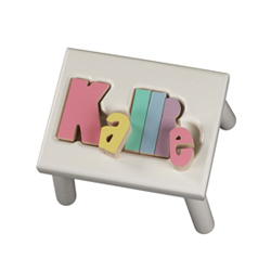 Personalized Puzzle Stool- 1-8 letters