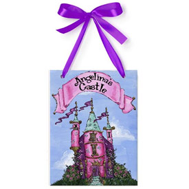 Jamies Painting and Design Princess Castle Name Plaque
