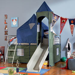 Powell Company Bedtime Fun Twin Tent Bunk